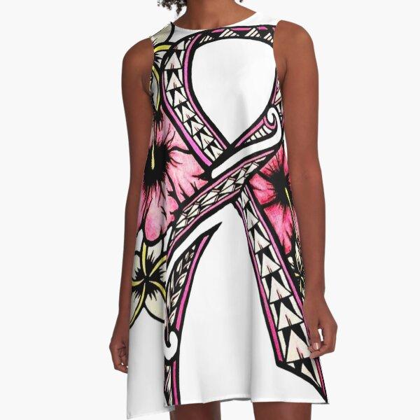 Breast Cancer Awareness A-Line Dress