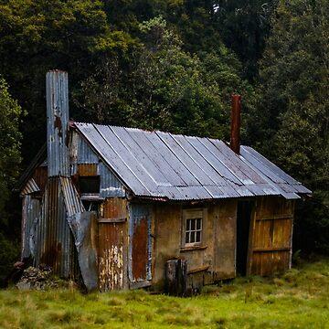 Yackandandah (Sunshine) hut and skinshed, near Cradle Mountain, Tasmania by belvoir