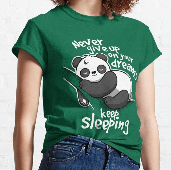 Panda continue de dormir T-shirt classique