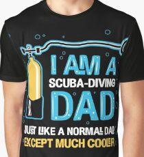 Dad - I'm A Scuba Diving Dad Graphic T-Shirt