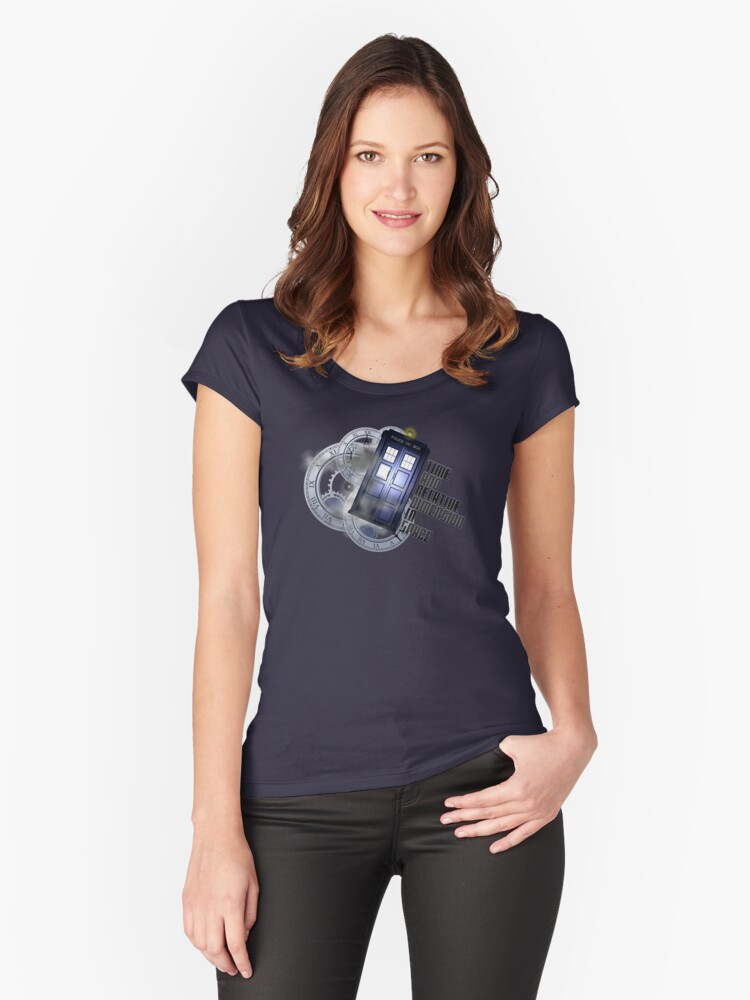 Time Flight Women's Fitted Scoop T-Shirt Front