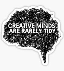 Creative minds_©ChunkaMunka on Redbubble Sticker