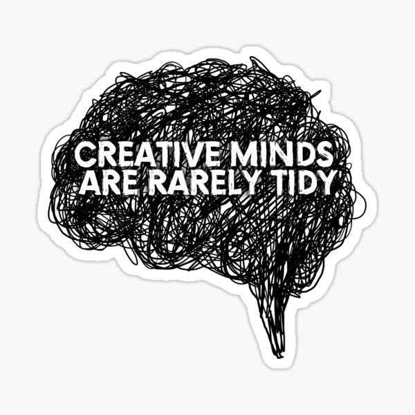 Creative minds_©ChunkaMunka on Redbubble Sticker