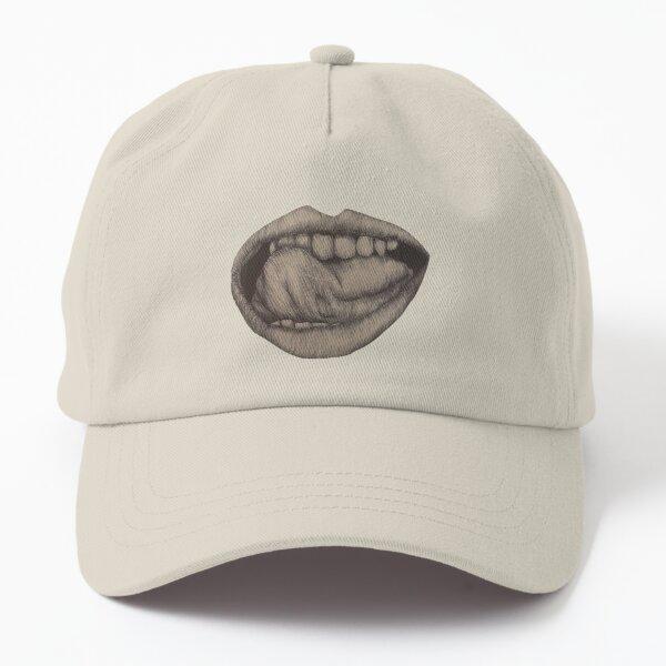 Tongue Licking Teeth  Dad Hat