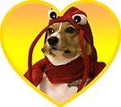 Doggo Stickers: Lobster Corgi (Yellow) by Elisecv