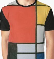 Piet Mondriaan - Composition II in Red Blue en Yellow Graphic T-Shirt