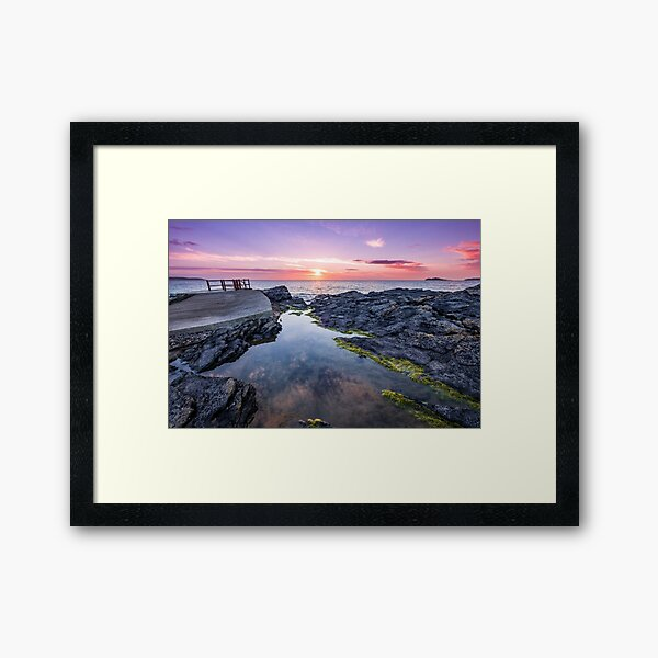 Portmarnock Beach, Ireland Framed Art Print