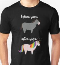 Before Yoga / After Yoga Unisex T-Shirt