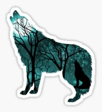 Howling Wild Wolf - Turquoise Sticker