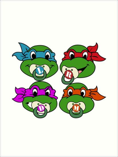 How to draw Cute ninja turtles, Donatello, step by step ...   Baby Ninja Turtles Drawings