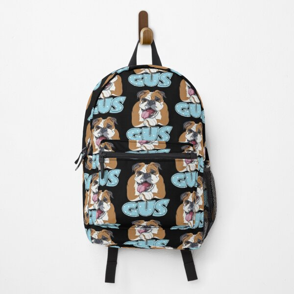 English Bulldog Gus Illustration  Backpack