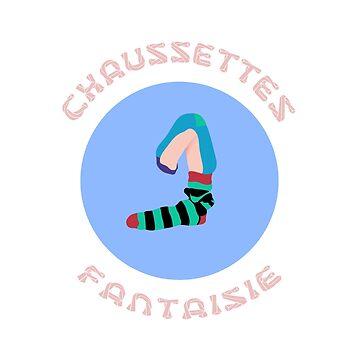 Mascotte Blue Fancy Socks by SynthSkin
