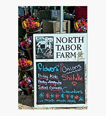 North Tabor Farm Photographic Print