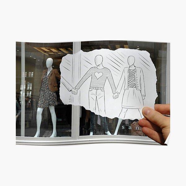 People Pencil Vs Camera Poster