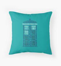 Type 40 TARDIS Throw Pillow