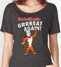 Make America GRRREAT AGAIN! - Trump the Tiger Women's Relaxed Fit T-Shirt
