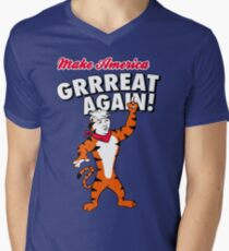 Make America GRRREAT AGAIN! - Trump the Tiger Men's V-Neck T-Shirt