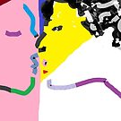 Two Kiss 01 -(270916)- Digital artwork: MS Paint/Mouse drawn by paulramnora