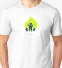 People and nature icon, adult and kids - green and blue T-Shirt