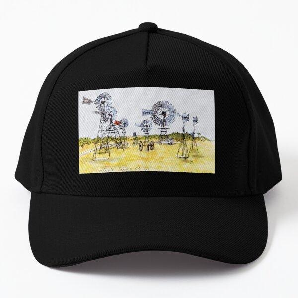 Australian Scene - Windmills - Penong, SA, Aus. Baseball Cap