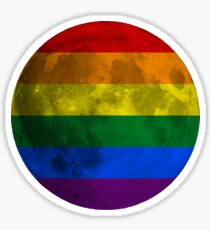 Lesbian and Gay Moon Sticker