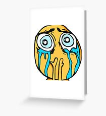 Tears On My Pillow Greeting Card