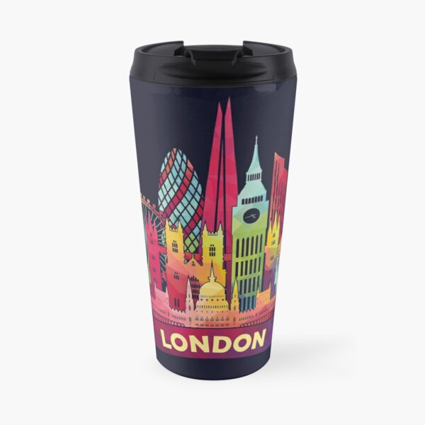 Modern colorful skyline of London Travel Mug