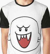 Super Mario Bros Boo Shape Design Graphic T-Shirt