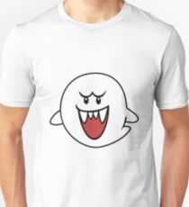 Super Mario Bros Boo Shape Design T-Shirt