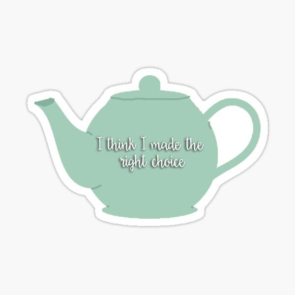 Jim and Pam Teapot Sticker Sticker