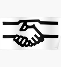 Shaking Hands Icon Poster
