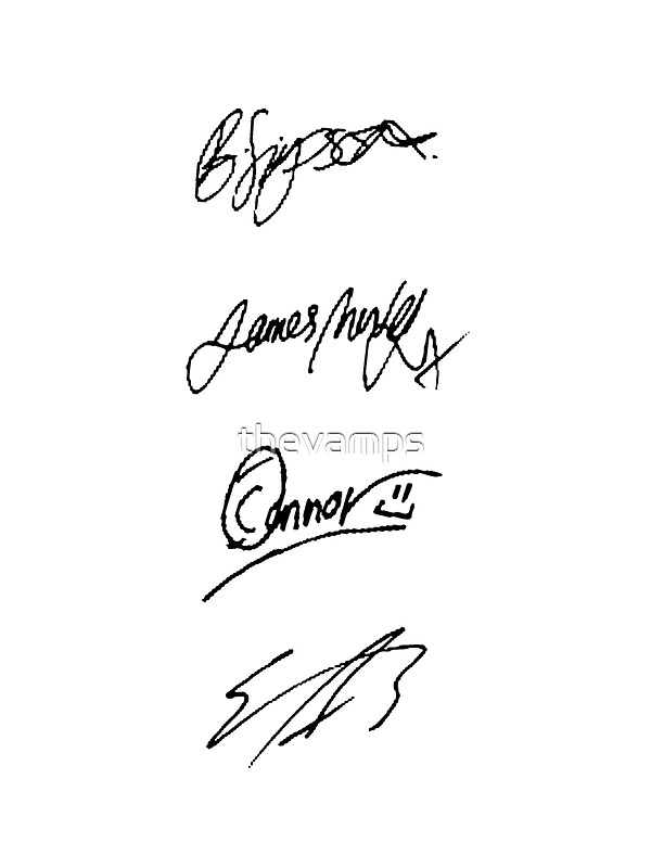 Quot The Vamps Signatures Quot Stickers By Thevamps Redbubble