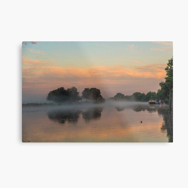 Trent Lock (UK) misty sunrise Metal Print