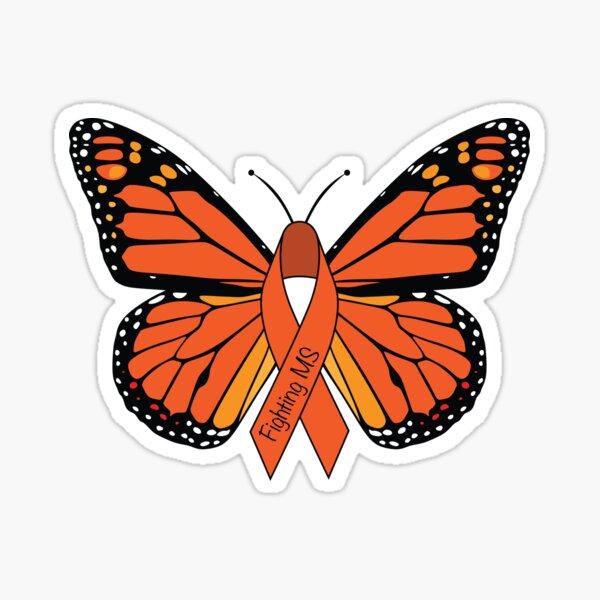 Multiple Sclerosis Awareness Butterfly Sticker