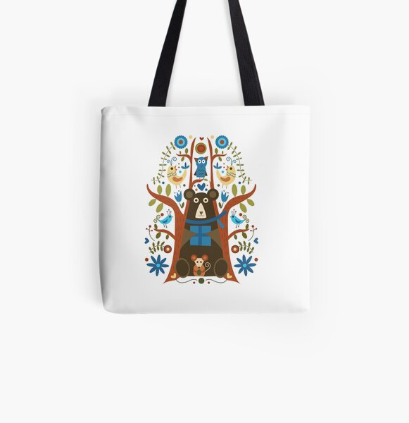 Swedish Bear All Over Print Tote Bag