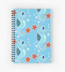 Baby Blue Seahorse Spiral Notebook
