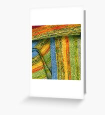 Knitted Stripes Greeting Card