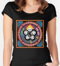 ohm over Fitted Scoop T-Shirt