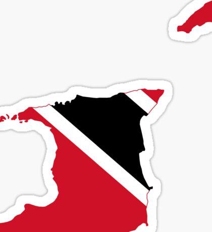Trinidad and Tobago Flag Map Sticker