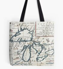 Vintage Map of The Great Lakes (1696)  Tote Bag