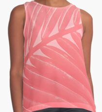 Hot Pink palm Contrast Tank