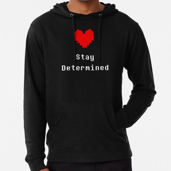 Stay Determined (Undertale) Lightweight Hoodie