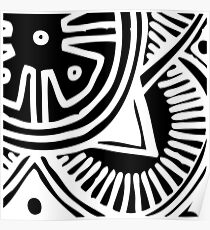 Abstract African Print Poster