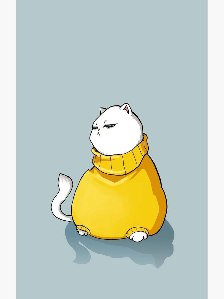 Grumpy fat cat by strijkdesign