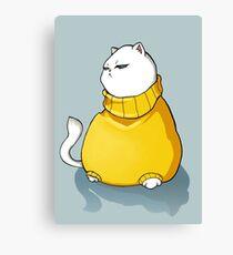 Grumpy fat cat Canvas Print