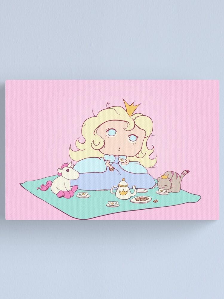 Alternate view of Lil´ Princess Tea Time Canvas Print