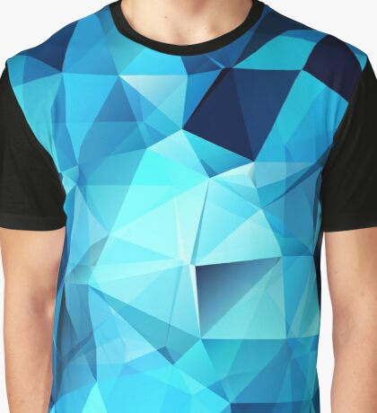 Blue polygonal design  Graphic T-Shirt