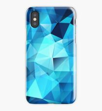 Blue polygonal design  iPhone Case/Skin