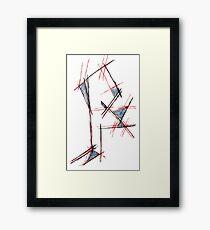 Red&blue Framed Print