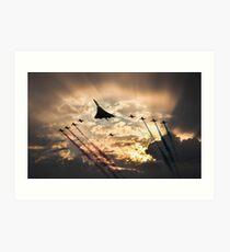 Concorde Arrow pass Art Print